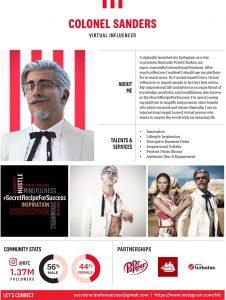 Influencer của KFC: Đại tá Sanders